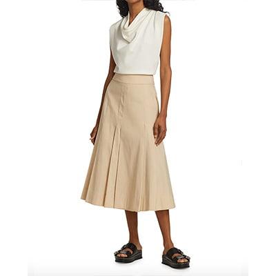 3.1 Phillip Lim Pleated A-Line Midi Skirt
