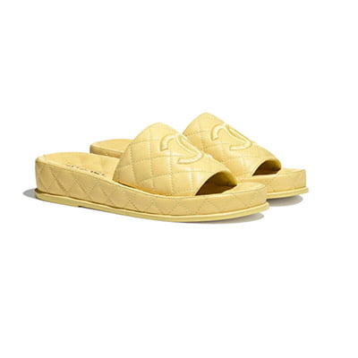 Chanel Quilted Lambskin Mules
