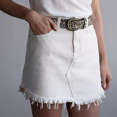 Free People We the Free Bailey Denim Mini Skirt