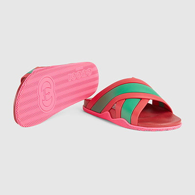 Gucci Women's House Web Slide Sandal