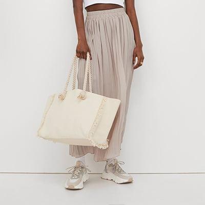 H&M Conscious Pleated Maxi Skirt