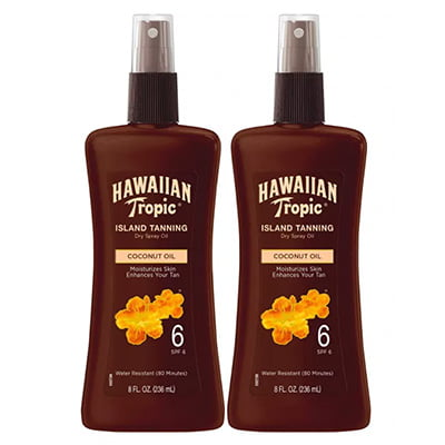 Hawaiian Tropic Island Tanning Dry Spray Oil