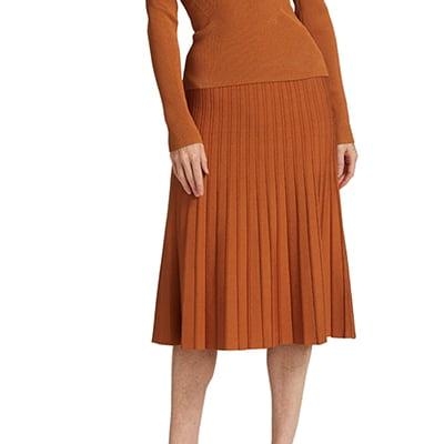 Jonathan Simkhai Ira Compact Knit Pleated Skirt