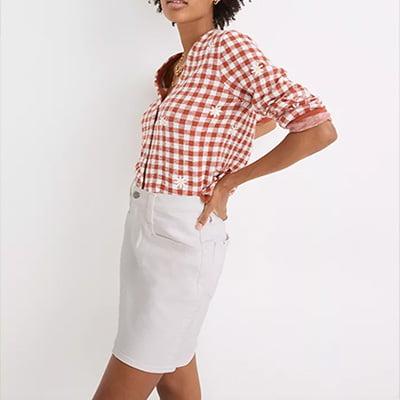 Madewell Heritage Stretch Denim Mini Skirt