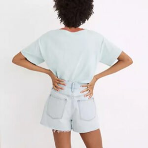 Madewell The Mom Jean Shorts in Fitzgerald Wash