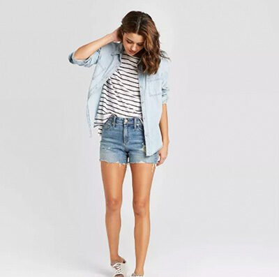 Universal Thread Women's High-Rise Distressed Jean Shorts