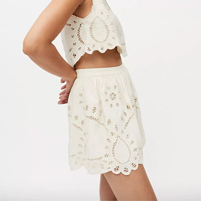 Urban Outfitters UO Mila Lace Mini Skirt