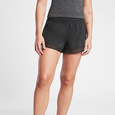Athleta Mesh Racer Running Shorts