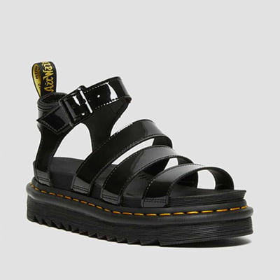 Blaire Women's Patent Leather Gladiator Sandals By Dr. Martens