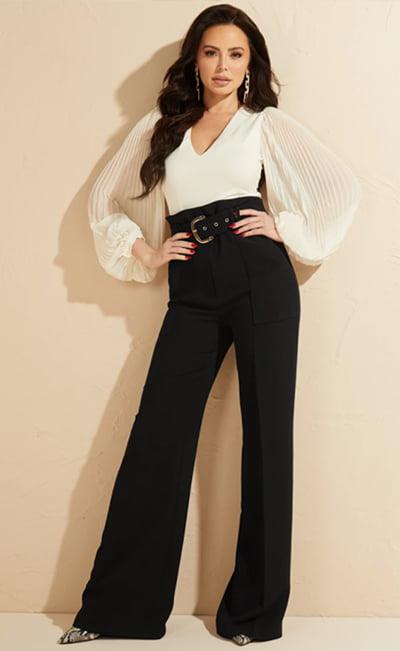 Ciera Pleated Sleeves Bodysuit