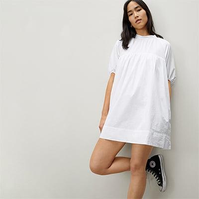 Everlane The Shirred Mini Dress