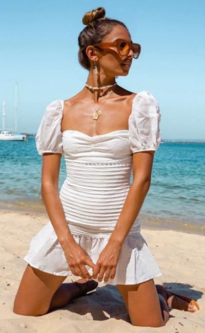 HELLO MOLLY St Cloud Dress White