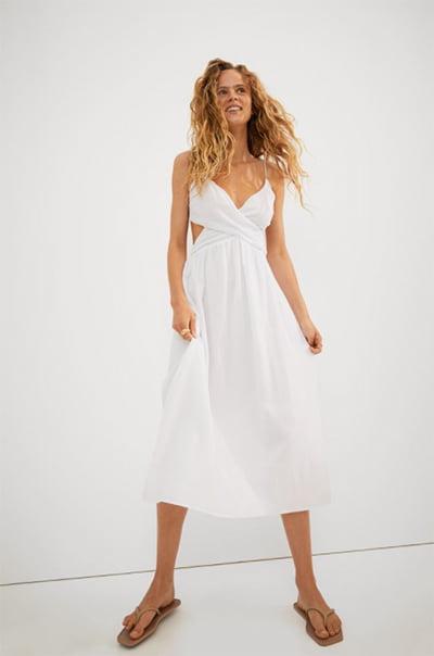 H&M V-Neck Cotton Dress