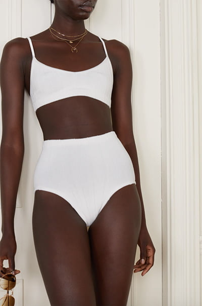 Hunza G + Net Sustain Duo Betty Nile Ribbed Bikini