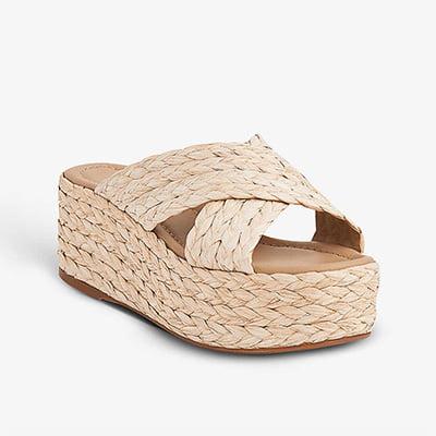 LK BENNETT Skyler Woven Platform Sandals