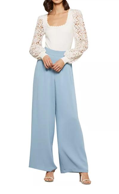 Lace-Sleeve Bodysuit By BCBGMAXAZRIA