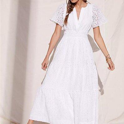 Maeve Somerset White Maxi Dress