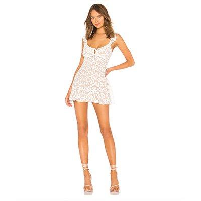 Majorelle Sunbeams White Dress