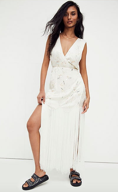 Modern Muse Embellished Maxi Dress By Free People