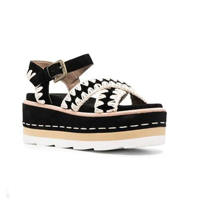 Mou Platform Suede Sandals