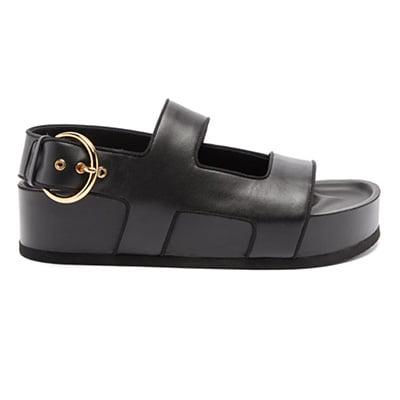 Neous Cher Leather Platform Slingback Sandals