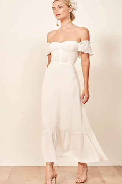 Reformation Butterfly Dress in Ivory