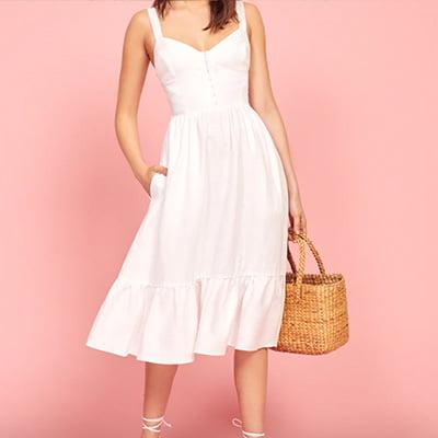 Reformation Dolci Linen Dress