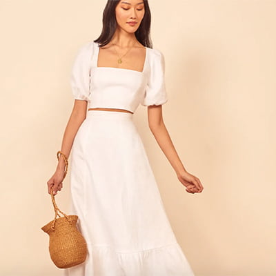 Reformation Yucca Linen Two-Piece Set
