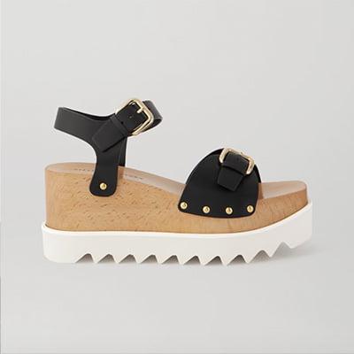 STELLA MCCARTNEY Elyse studded vegetarian leather platform sandals