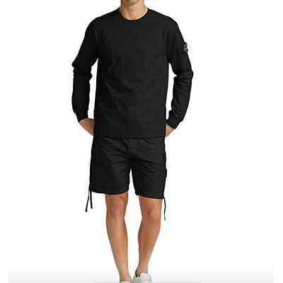 Stone Island Core Long Sleeve Henley Jersey T-Shirt