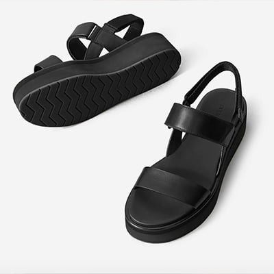 The Leather Platform Sandal By Everlane