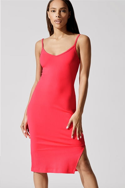 Vertical Ribbed Dress By Carbon 38