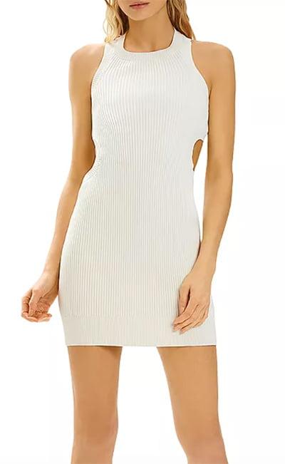 x Julia Restoin Roitfeld Ribbed Cutout Mini Dress