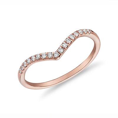 Blue Nile Diamond Chevron Stackable Fashion Ring