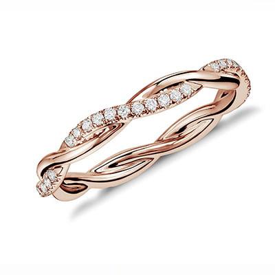 Blue Nile Petite Twist Diamond Eternity Ring