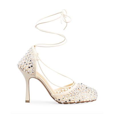 Bottega Veneta Sparkle Stretch Sandals