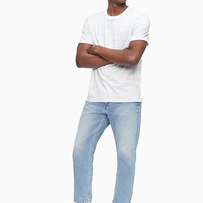 Calvin Klein Liquid Touch Crew-Neck Stripe T-Shirt