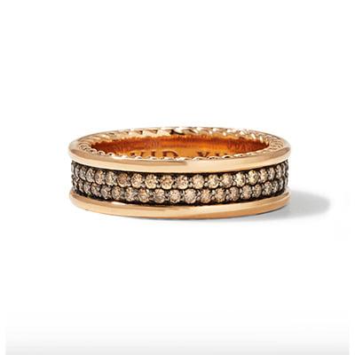 David Yurman Men's Streamline Two-Row Diamond Band Ring