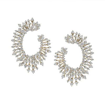 Hueb Luminus Diamond Hoop Earrings