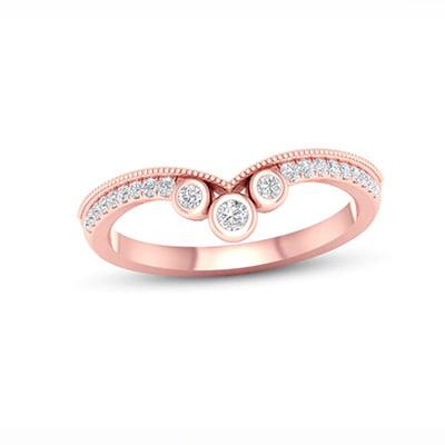Kay Jewelers 10-Karat Rose Gold Diamond Anniversary Ring