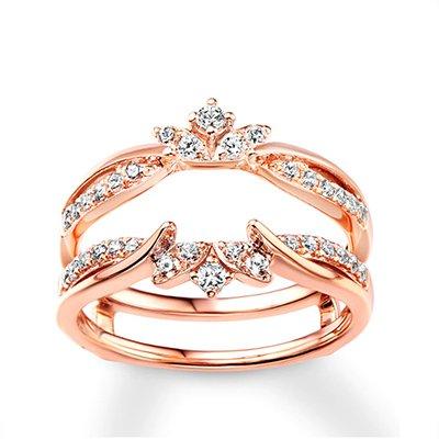 Kay Jewelers 14-Karat Rose Gold Round-Cut Diamond Enhancer Ring
