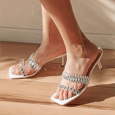 Lulus Jazelle White High Heel Sandals