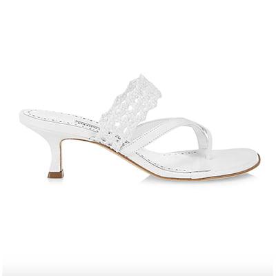 Manolo Blahnik Susa Braided Leather Sandals