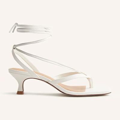 Reformation The Selene Lace-Up Kitten Heel Sandal