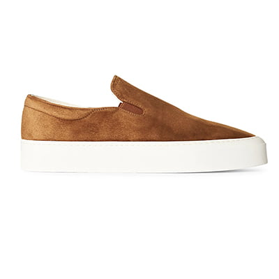 The Row Marie Suede Slip-On Sneakers