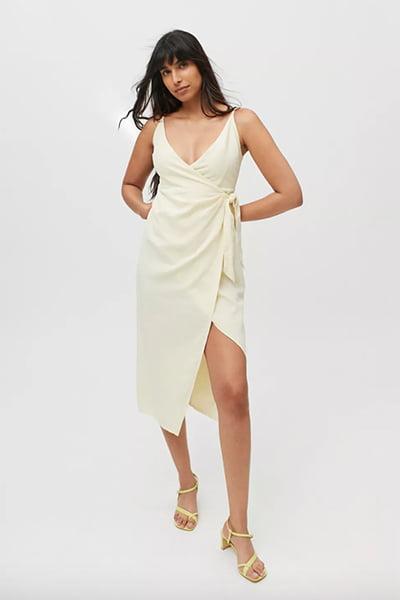 UO Flashing Lights Midi Wrap Dress