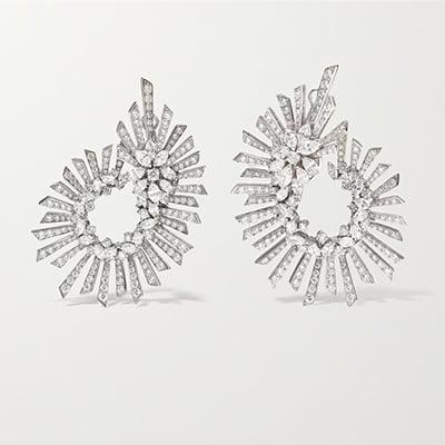 Yeprem Y-Namic 18-Karat White Gold Diamond Earrings