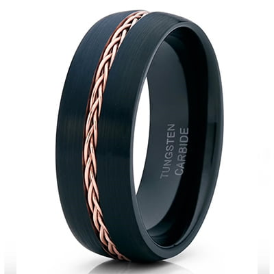 Yorks Jewelry Design Rose Gold Tungsten Ring