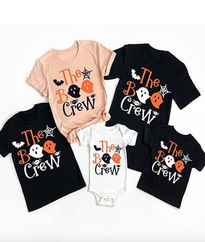 Earth Custom The Boo Crew Matching Family Pajama Shirts