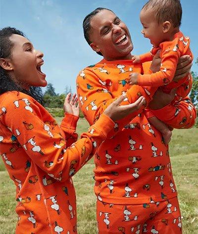 Hanna Andersson Snoopy Halloween Matching Family Pajamas